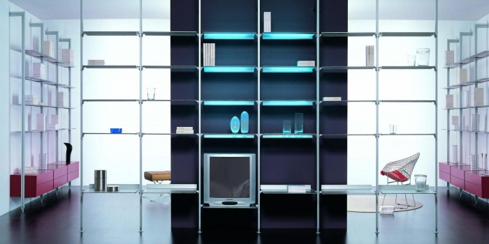 biblioth ques meubles tv sur mesure. Black Bedroom Furniture Sets. Home Design Ideas