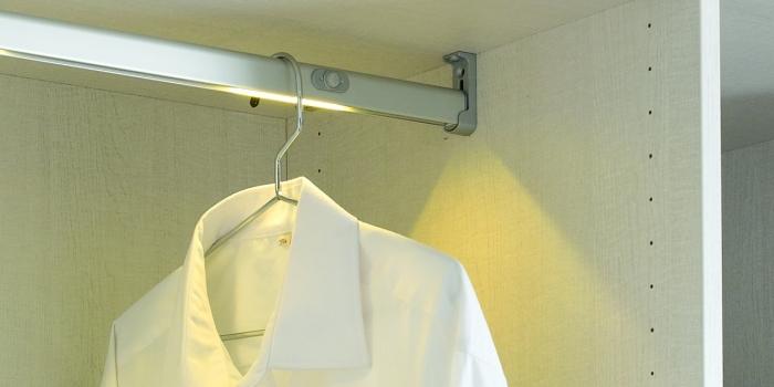 garderobestang met led verlichting